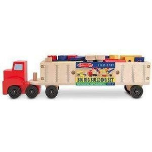 Melissa and Doug Wooden Big Rig Building Set
