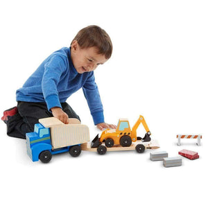 Melissa and Doug Wooden Dump Truck and Loader Set