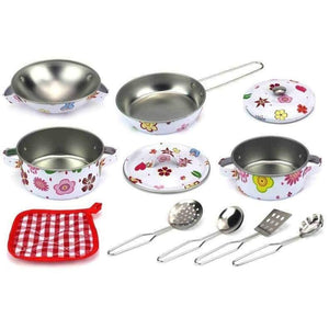Metal Toy Kitchen Pots and Pans Set