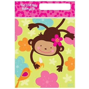 Monkey Fun Birthday Loot / Lolly Bags - Pack of 8