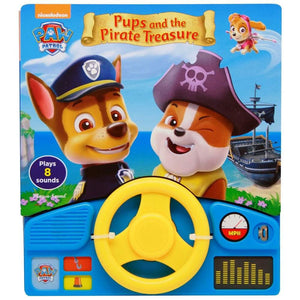 Paw Patrol Pups And The Pirate Treasure Steering Wheel and Book