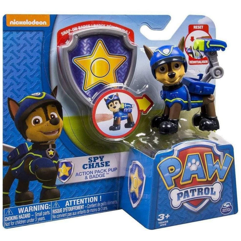 Paw Patrol Spy Chase Action Pack Pup and Badge