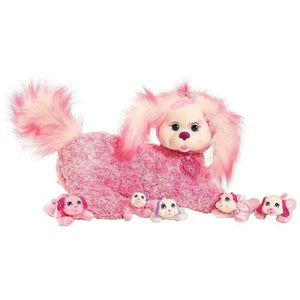 Puppy Surprise Plush Mati the Long Haired Pink Dog