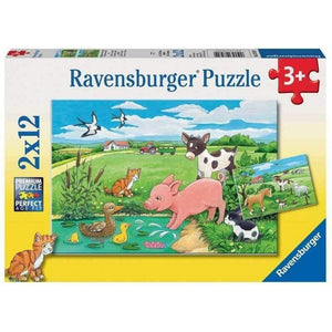 Ravensburger Baby Farm Animals Puzzle - 2 x 12 Piece