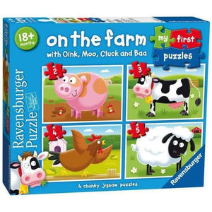 Ravensburger My First Puzzles On the Farm - 4 Chunky Puzzle Set
