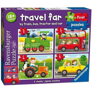 Ravensburger My First Puzzles Travel Far - 4 Chunky Puzzle Set