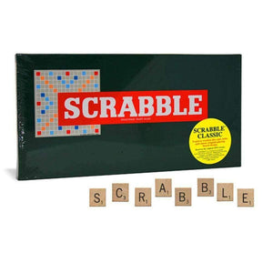 Scrabble Classic Game with Wooden Tiles