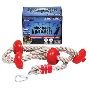 Slackers Ninjarope Ninja Climbing Rope with 8 Handholds