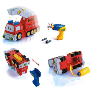 Take Apart Fire Engine with Electric Drill