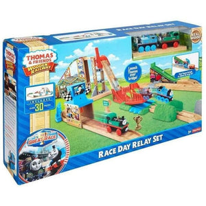 Thomas and Friends Wooden Railway Race Day Relay Set