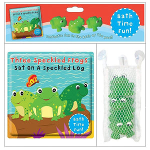 Three Speckled Frogs Sat on a Speckled Log Bath Time Fun Set