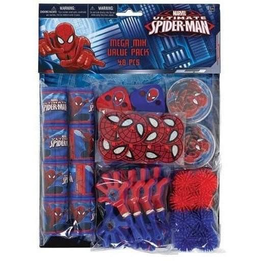 Spiderman Ultimate Spiderman Birthday Mega Mix Party Pack - 48 Pieces - Buy Online