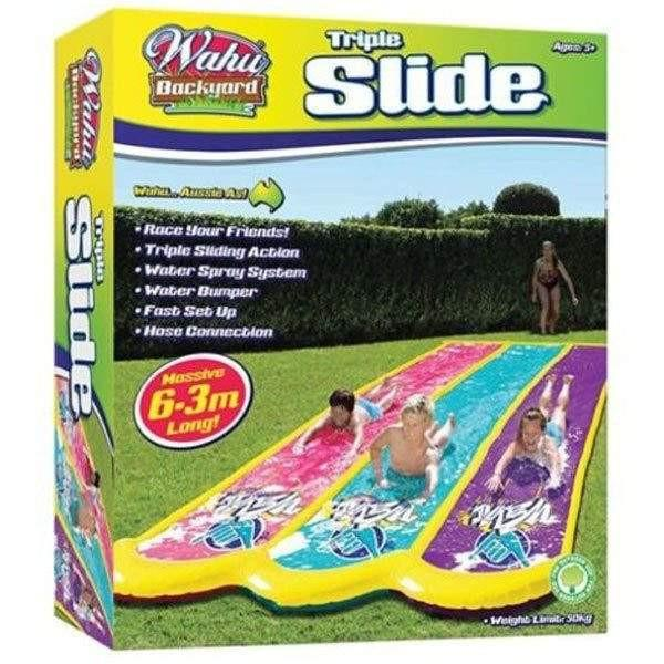 Wahu Wahu Triple Slip N Slide - 6.3m Long - Buy Online