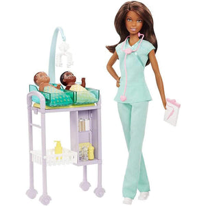 Barbie Careers Baby Doctor Doll Playset with 2 Baby Dolls