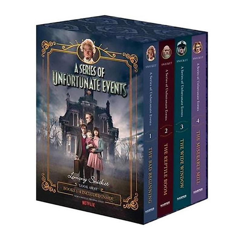 Books A Series Of Unfortunate Events Books 1-4 Netflix Tie-In Boxset - Buy Online