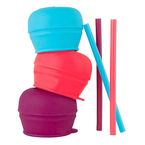 BOON SNUG Straw 3 Pack Lids - Girl