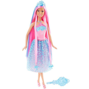 Barbie Endless Hair Kingdom Princess Doll - Blue and Pink Hair