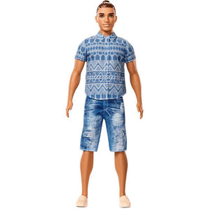 Barbie Fashionista Ken Doll - Distressed Denim - Broad