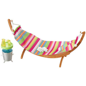 Barbie Furniture and Accessories Playset - Hammock with Kitty