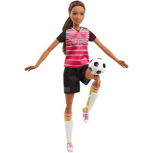 Barbie Made to Move Soccer Player Doll - Ethnic