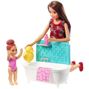 Barbie Skipper Babysitters Inc Doll and Bathtime Playset