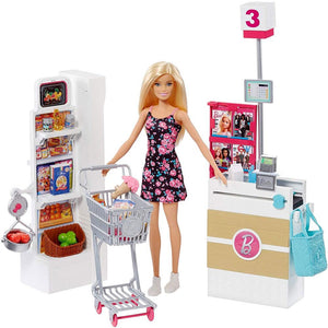 Barbie Supermarket with Blonde Barbie Doll