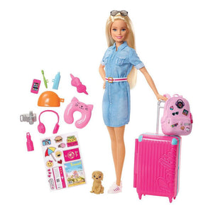 Barbie Travel Lead Doll with Puppy