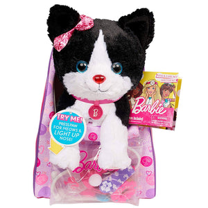 Barbie Vet Bag Set with Black and White Kitty - Interactive Cat