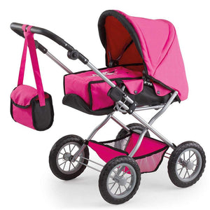Bayer Combi Grande Doll Pram in Rhodamine and Black