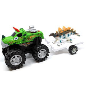 Big Foot Friction Truck with Dinosaur Trailer