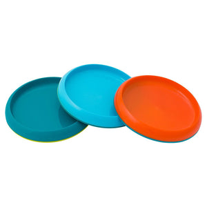 BOON Edgeless Plate 3 Pack Set in Blue/Orange/Green