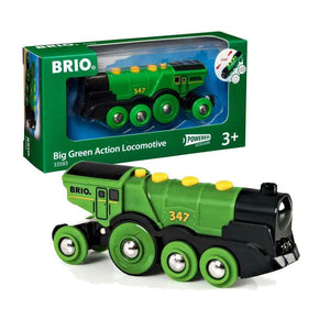 Brio Battery-operated Big Green Action Locomotive