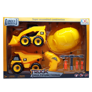 Build It Yourself Dump & Front Loader Set with Hardhat & Tools