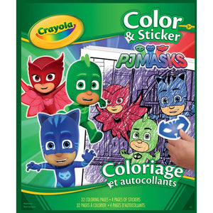 Crayola Color and Sticker Book - PJ Masks