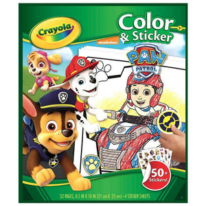 Crayola Colour & Sticker Paw Patrol Set