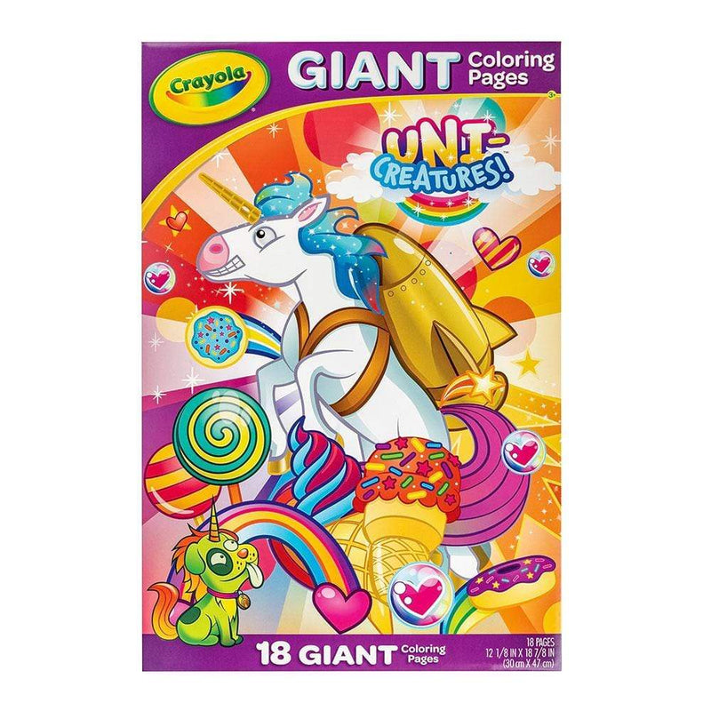 Crayola Giant Colouring Pages Unicorn Creatures Toy Universe