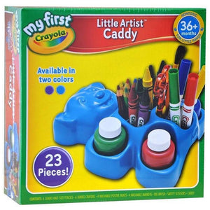 Crayola My First Little Artist Bear Caddy - Blue