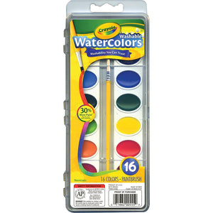 Crayola Washable Watercolors - 16 Pack