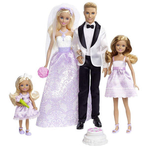 Barbie Wedding Gift Set - Set of 4 Dolls