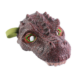 Dinosaur Mask T-Rex Brown - Kids Dress Up