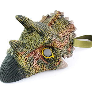 Dinosaur Mask Triceratops Green - Kids Dress Up