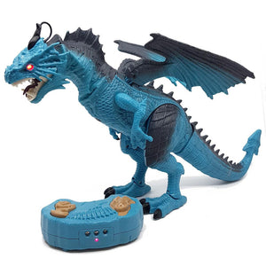 Dinosaur Planet Walking &  Fire Breathing Dragon - Blue