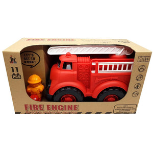 Eco Toys Fire Engine Truck with 11 Blocks