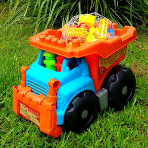 Eco Toys Giant Dump Truck with Building Blocks - 32 Piece
