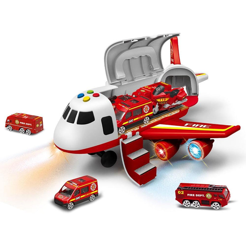 Fun Brands Fire Brigade Plane And Car Diecast Playset | Stay At Home Mum