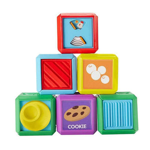 Fisher Price First Laugh and Learn Words Food Blocks