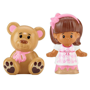 Fisher Price Little People 2 Pack - Mia with Teddy Bear