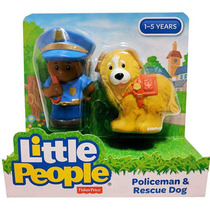 Fisher Price Little People 2 Pack - Policeman & Rescue Dog