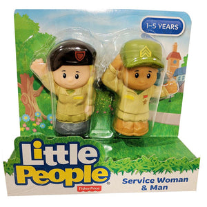 Fisher Price Little People 2 Pack - Servicewoman & Man