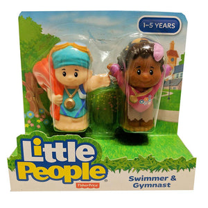 Fisher Price Little People 2 Pack - Swimmer & Gymnast
